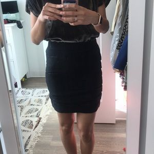 Ann Taylor Black Skirt with Lace